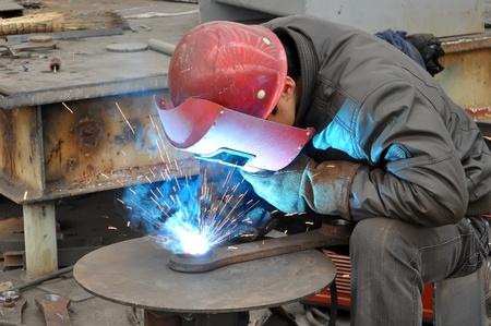 Welding polished Stockfoto