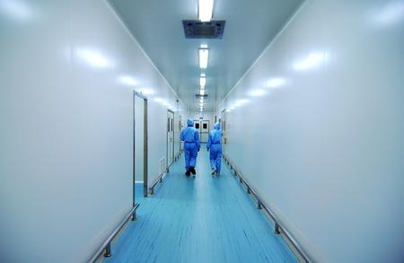 People walking corridor Editorial