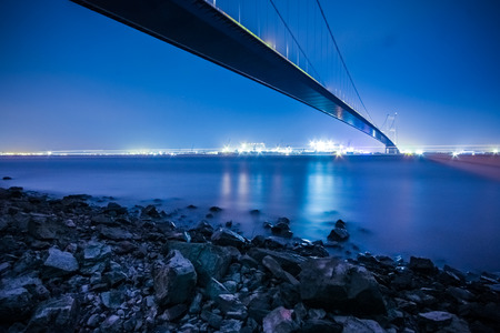 Jiangyin River Bridge scenery Stock Photo