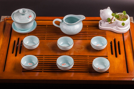 traditional culture: traditional Chinese tea culture Stock Photo