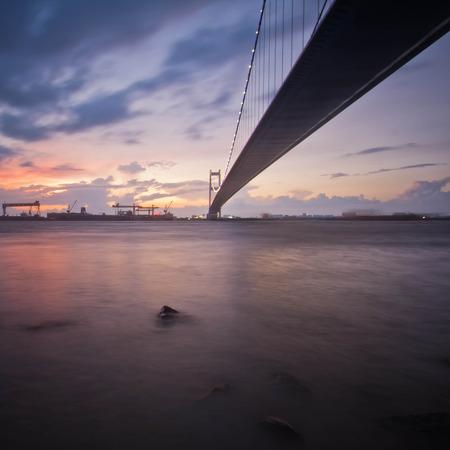 Jiangyin Yangtze River Bridge Stock Photo