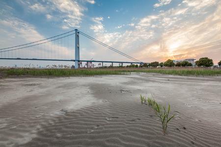 yangtze: Jiangyin Yangtze River Bridge scenery Stock Photo