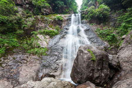 landforms: Zhejiang Qingliangfeng Nature waterfall Stock Photo