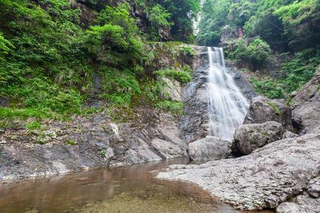 natural force: Zhejiang Qingliangfeng Nature waterfall Stock Photo