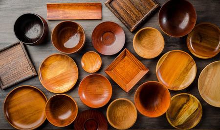 Wooden tableware Standard-Bild - 101420166