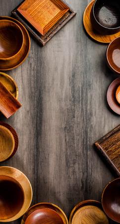 Wooden tableware Standard-Bild - 101476056