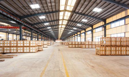 warehouse interior: interior of a warehouse