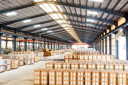 empty warehouse: interior of a warehouse