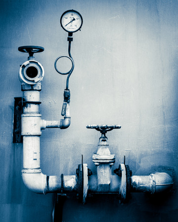 control room: Pipes and pressure gauges