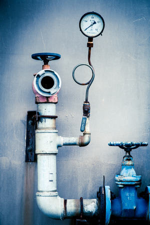 engine room: Pipes and pressure gauges