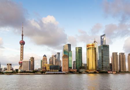 cityscape of huangpu river in shanghai,China photo
