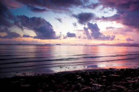 crimson colour: sunset beach