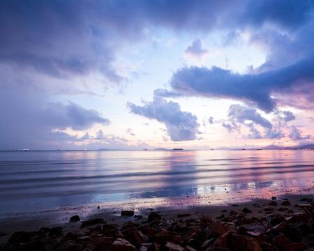 sunset beach photo