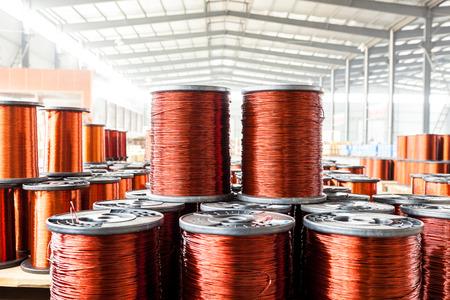 fabryka kabel miedziany Zdjęcie Seryjne