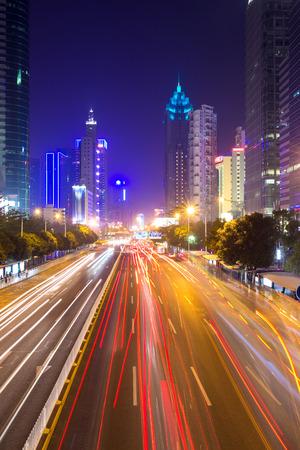 prosper: The busy urban traffic at night