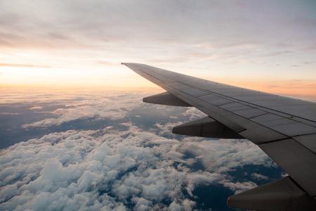 airplane window: Classic image through aircraft window onto jet engine Stock Photo