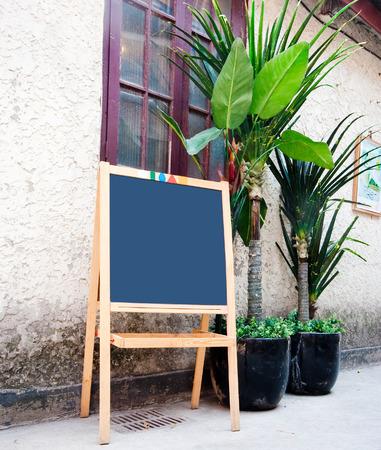 wooden menu board photo