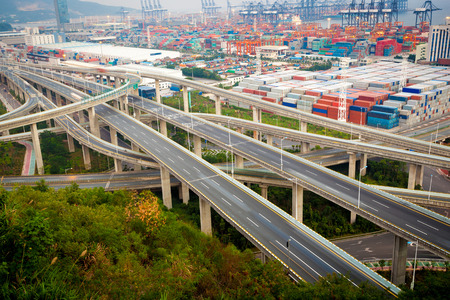China Shenzhen, Yantian port overpass