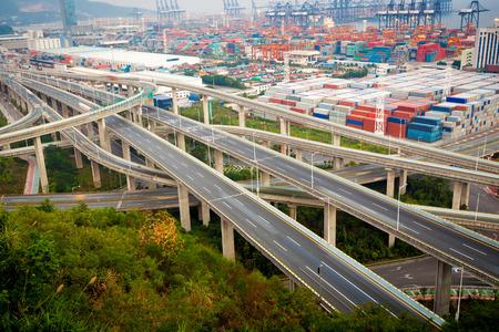 overpass: China Shenzhen, Yantian port overpass