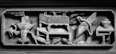 wood carvings: Chinese Traditional wood carvings Stock Photo
