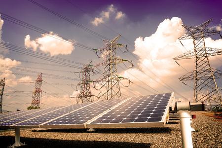 energia solar: Planta de energía utilizando la energía solar renovable