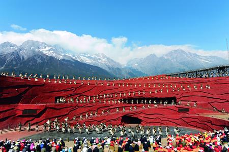 Lijiang ethnic dance performance 新聞圖片