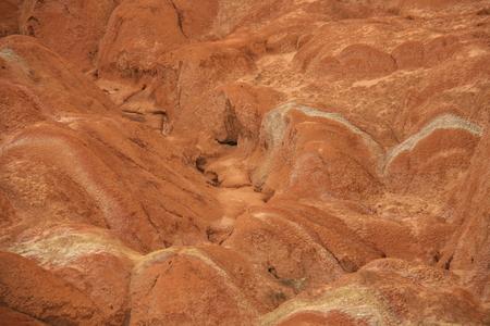 landforms: Danxia landforms background Stock Photo