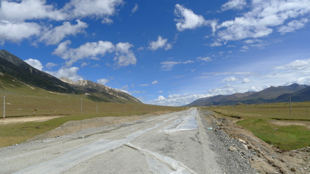 National road No.318 in China, the way to Lhasa, Tibet, the way to heaven photo