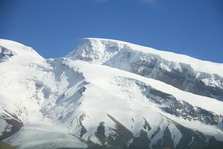 xinjiang: Les glaciers au sommet du mont Muztag Ata, le père de montagnes de glace, sur le plateau du Pamir, Taxkorgan, Kashgar, Xinjiang, en Chine Banque d'images