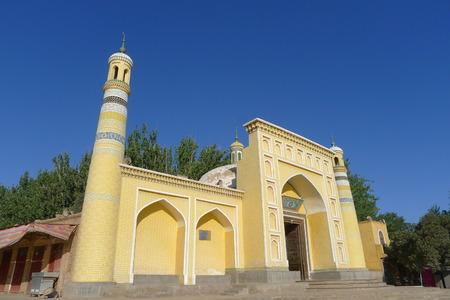 xinjiang: La mosquée Id Kah, la célèbre mosquée islamique à Kashgar, Xinjiang, en Chine Banque d'images