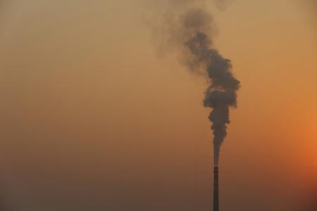 smokestack: Smokestack in the sunset