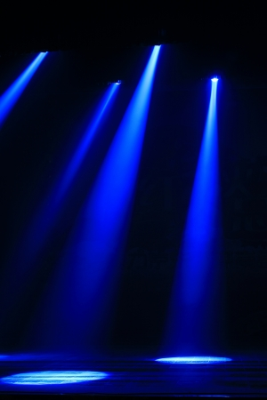 stage lighting effect in the darkness, closeup of photo Stock Photo - 18483227