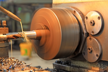 high torque: machine tool with a great speed, closeup of photo