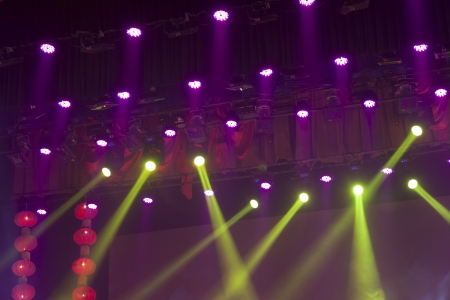 stage lights colorful in a nightclub venue Stock Photo - 18575959