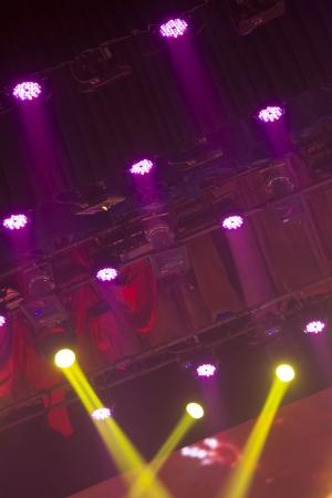 stage lights colorful in a nightclub venue Stock Photo - 18575987