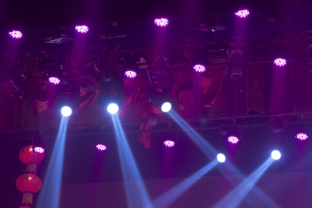 stage lights colorful in a nightclub venue Stock Photo - 18575985