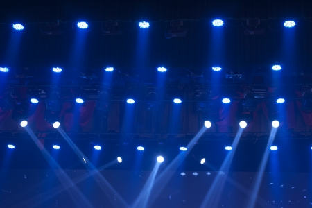 stage lights colorful in a nightclub venue Stock Photo - 18575976