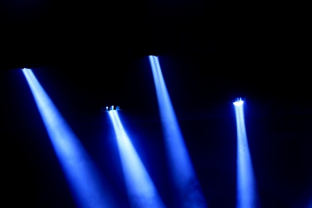 stage lighting effect in the darkness, closeup of photo Stock Photo - 18574648