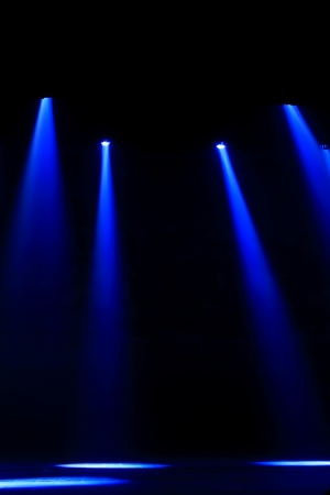 stage lighting effect in the darkness, closeup of photo Stock Photo - 18574647
