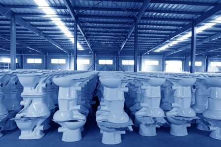 Ceramic close stool products in a warehouse   Stock Photo - 18701684