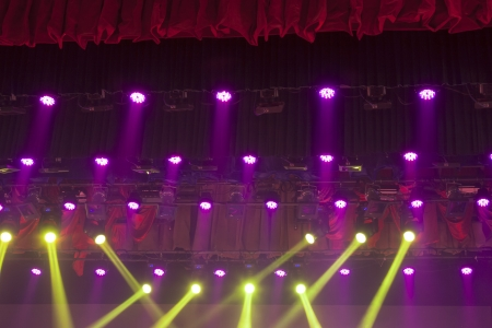 stage lights colorful in a nightclub venue Stock Photo - 18803543