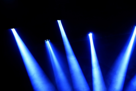 stage lighting effect in the darkness, closeup of photo Stock Photo - 18805684