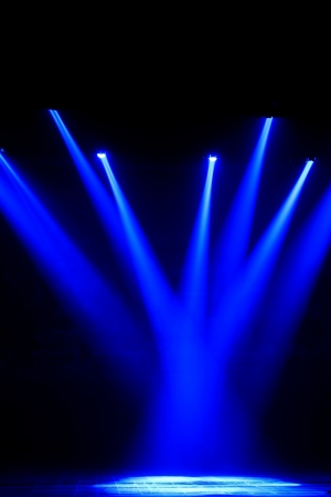 stage lighting effect in the darkness, closeup of photo Stock Photo - 18805683