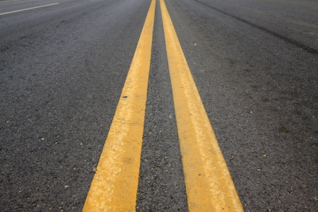 solid line: yellow double solid line on the road