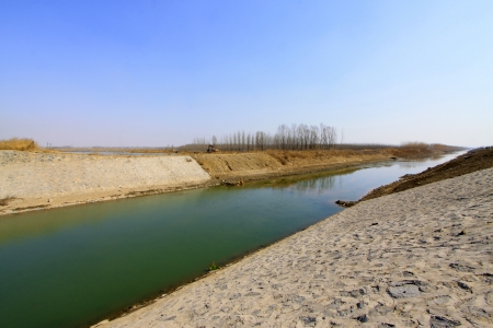 reservoir sluice, a kind of water conservancy project Stock Photo - 19008672