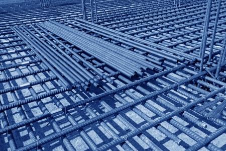 Rebar Engineering at a construction site, north china  Stock Photo