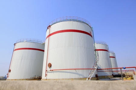 storage tanks in a chemical plant, north china photo