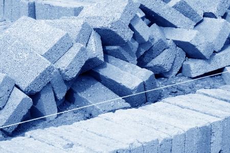 construction masonry engineering, closeup of photo
