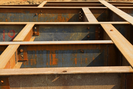 steel plate member oxidation rust in a construction site Stock Photo - 19122257