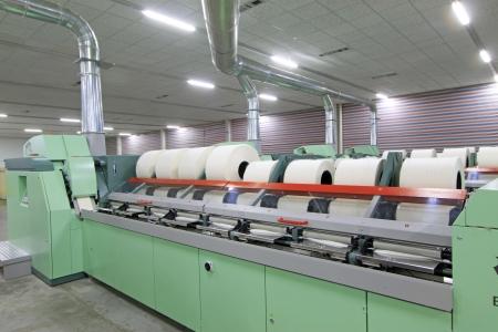 ペンチョン - 3 月 26 日: 機械および設備、紡績生産会社、2013 年 3 月 26 日、ラン南県河北省、中国。 報道画像